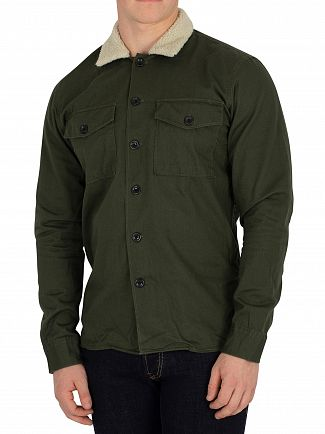 Jack & Jones Forest Night Green Nolan Fur Overshirt
