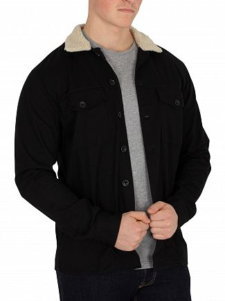 Jack & Jones Black Nolan Fur Overshirt