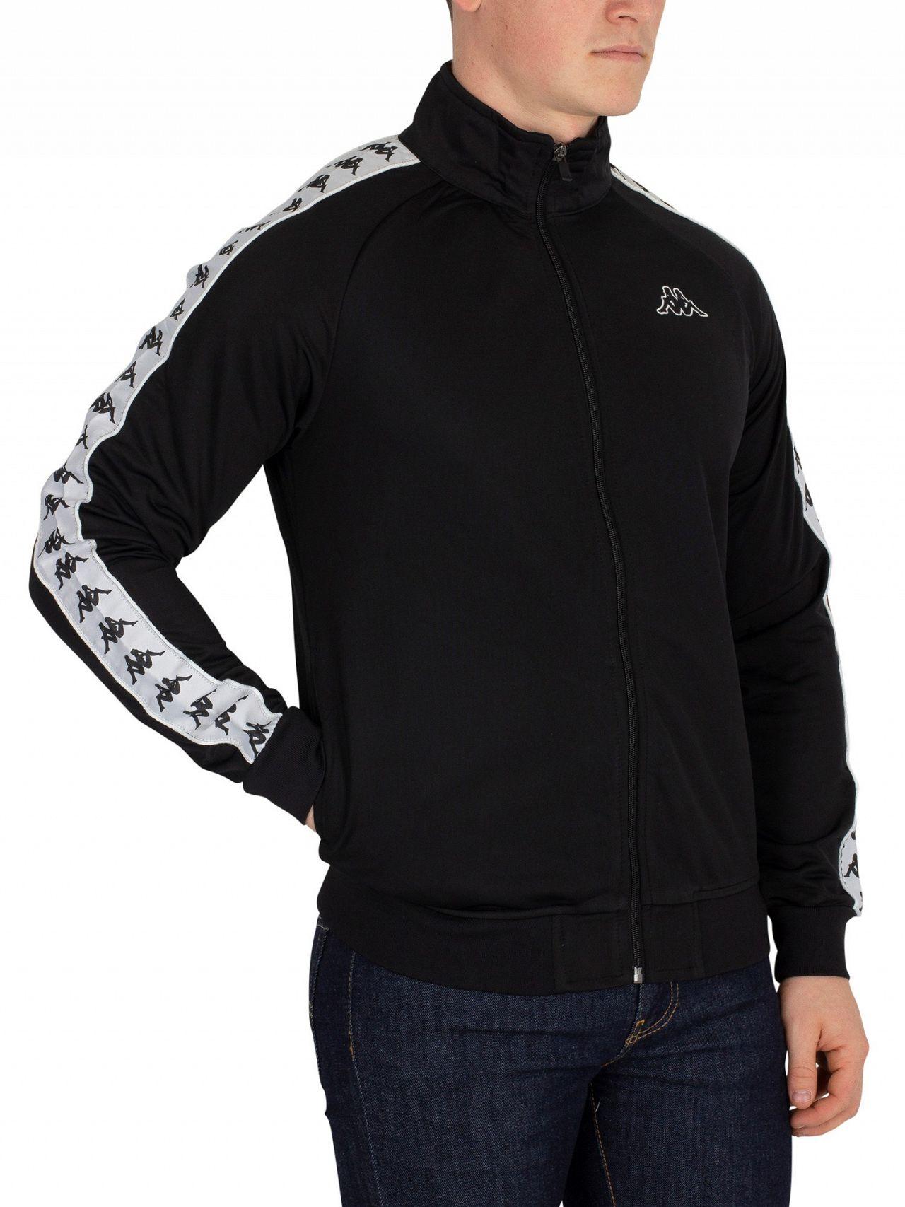 1f108d798e1a Kappa Black White Anniston 222 Banda Slim Fit Track Jacket