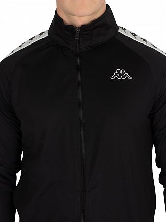 Kappa Black/White Anniston 222 Banda Slim Fit Track Jacket