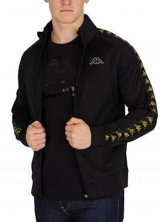 Kappa Black/Gold Anniston 222 Banda Slim Fit Track Jacket
