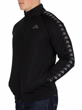 Kappa Black/Grey Anniston 222 Banda Slim Fit Track Jacket