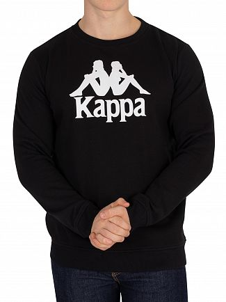 Kappa Black Authentic Eslogari Slim Fit Sweatshirt