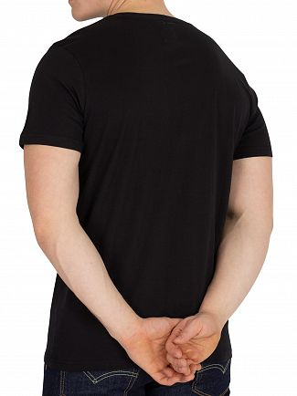 Kappa Black/Foil Authentic Estessi Slim Fit T-Shirt