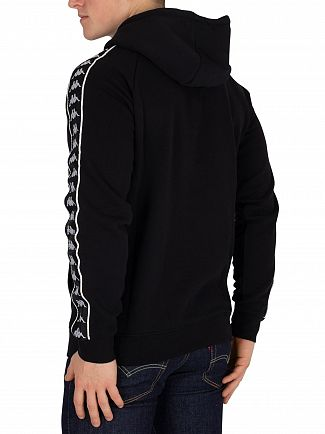 Kappa Black/White Hurtado 222 Banda Slim Fit Hoodie