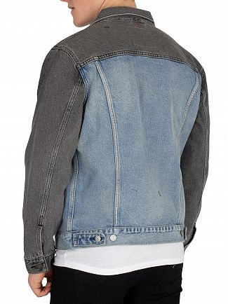 Levi's Charcoal/Light Aged Banzi Trucker Jacket
