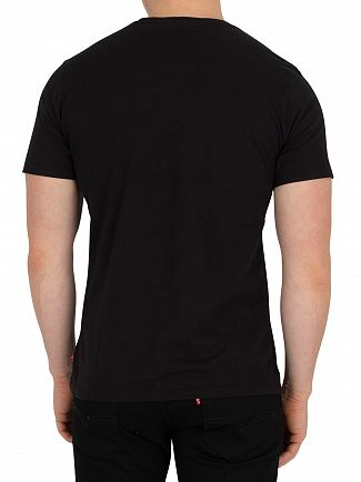 Levi's Flaid Fill Black Housemark Graphic T-Shirt