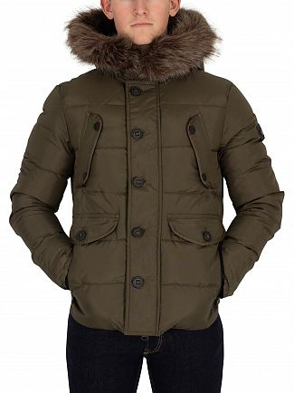 Superdry Dark Khaki Chinook Fur Hood Jacket