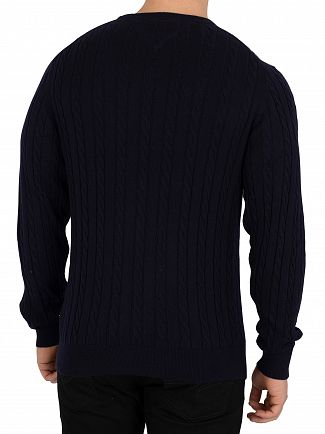 Tommy Hilfiger Sky Captain Heather Classic Cotton Blend Knit