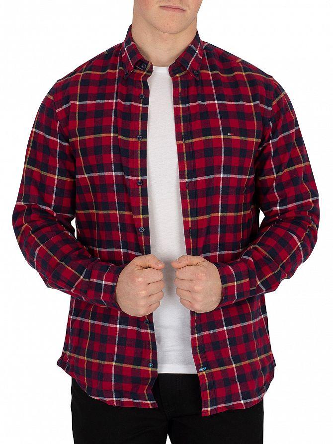 Tommy Hilfiger Rhubarb/Black Iris Navy Gingham With A Twist Shirt