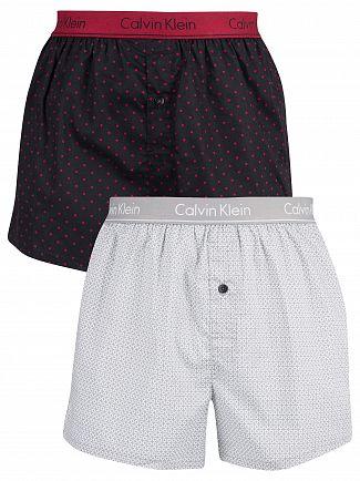 Calvin Klein Blassic Dots Print / Winter Star 2 Pack Woven Trunks
