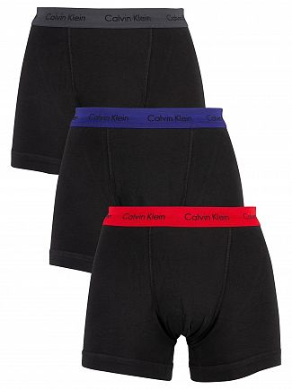 Calvin Klein Red/Blue/Charcoal 3 Pack Trunks