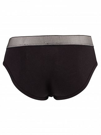 Calvin Klein Black Customized Stretch Hip Briefs