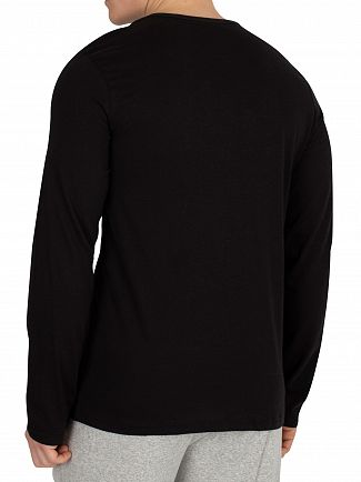 Calvin Klein Black Longsleeved Graphic T-Shirt