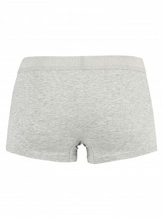 Calvin Klein Grey Heather / Spicy Orange Patch Monogram Trunks