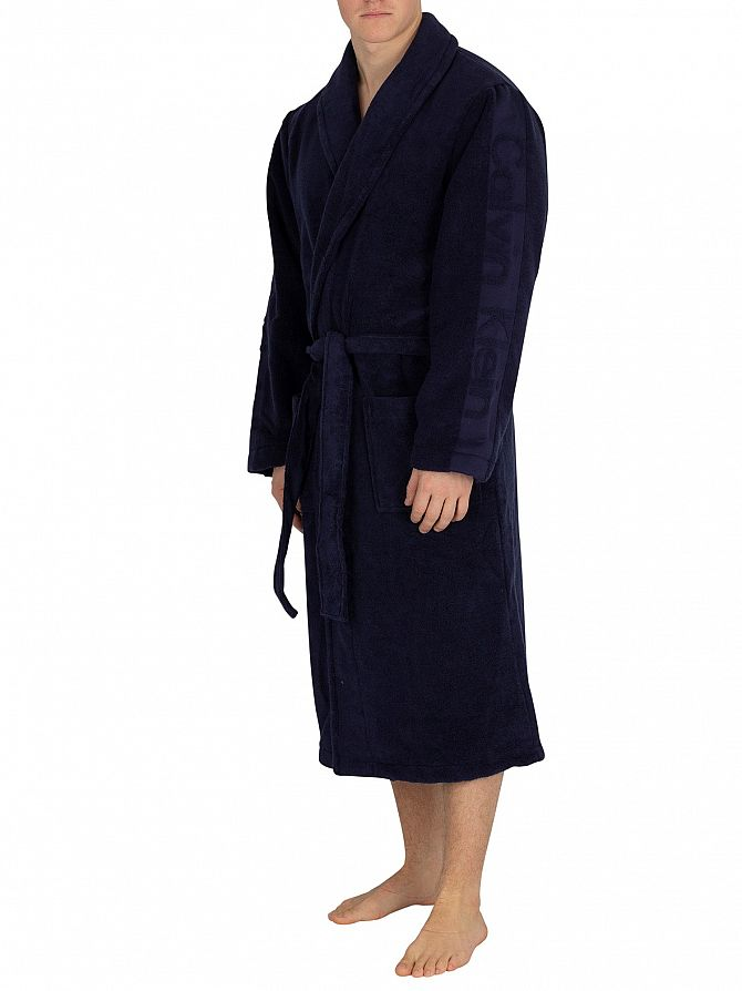 Calvin Klein Blue Shadow Robe
