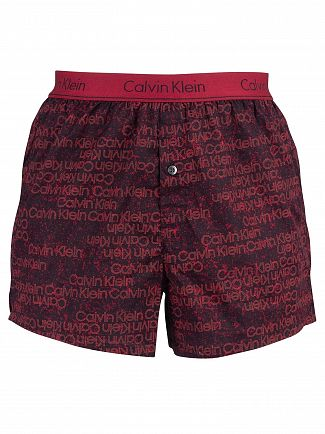 Calvin Klein Portion Logo Biking Red Slim Fit Boxers