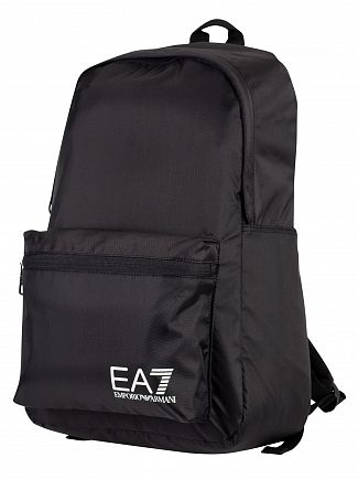 EA7 Black Train Prime Backpack