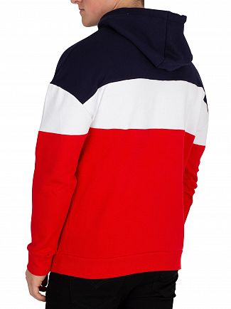Fila Vintage Red/Peacoat/White Rayton Colour Block Pullover Hoodie