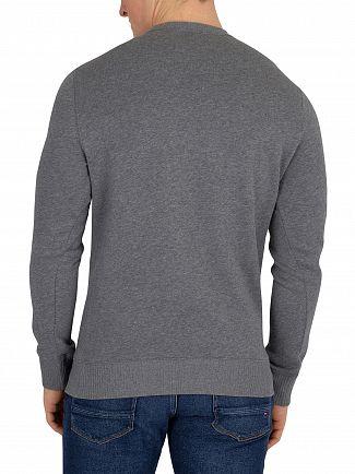 Gant Dark Grey Melange Contrast Backside Sweatshirt