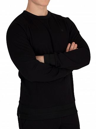 G-Star Dark Black Core Side Zip Sweatshirt