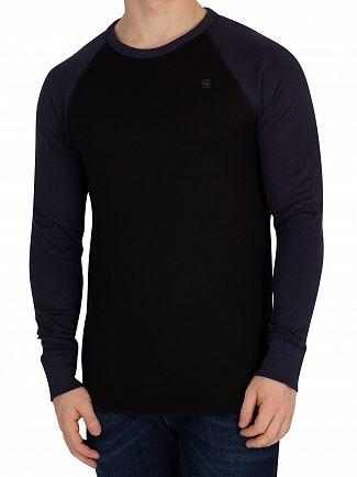 G-Star Dark Black/Mazarine Blue Jirgi Sweatshirt