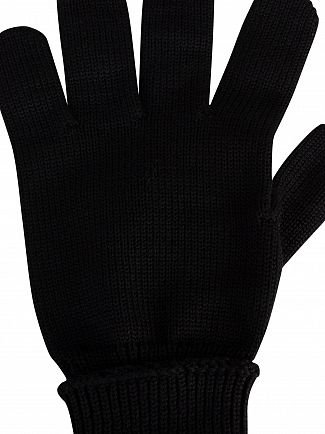 Lacoste Black Gants Croc Gloves