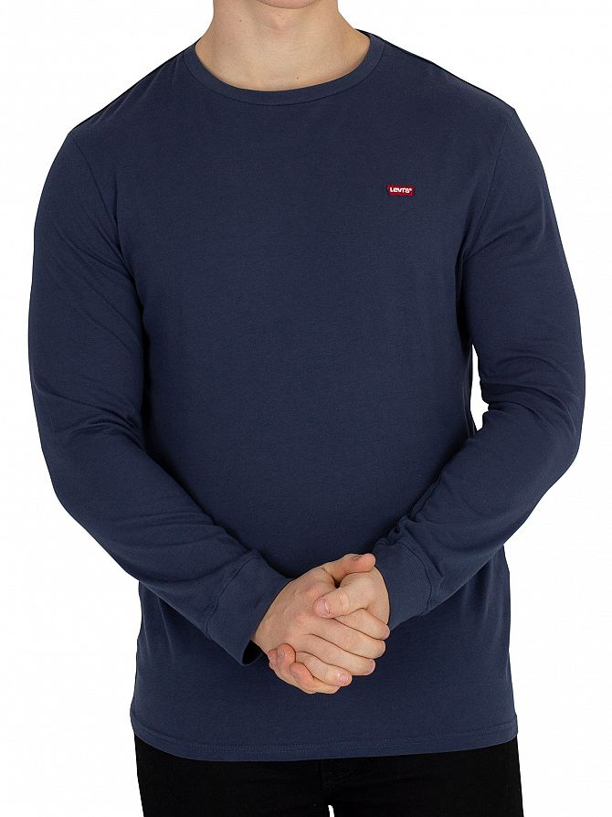 Levi's Navy Longsleeved Original T-Shirt