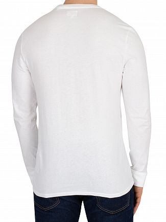Levi's White Longsleeved Original T-Shirt