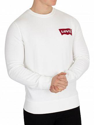 Levi's White Modern Sweatshirt