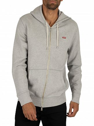 Levi's Grey Heather Original Zip Hoodie