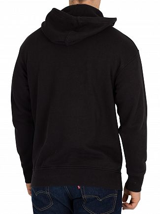 Levi's Black Oversized Varsity Batwing Pullover Hoodie