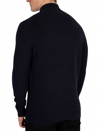 Lyle & Scott Dark Navy 1/4 Zip Jumper