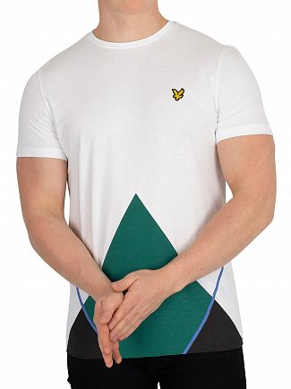 Lyle & Scott White Argyle T-Shirt