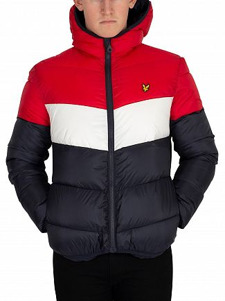 Lyle & Scott Dark Navy Block Puffa Jacket