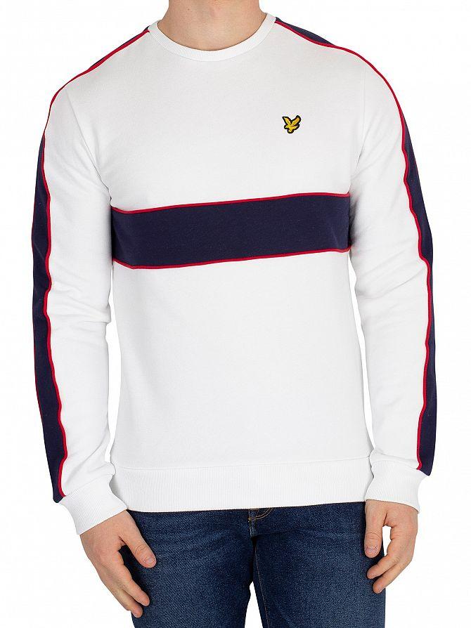 Lyle & Scott White Cut & Sew Sweatshirt