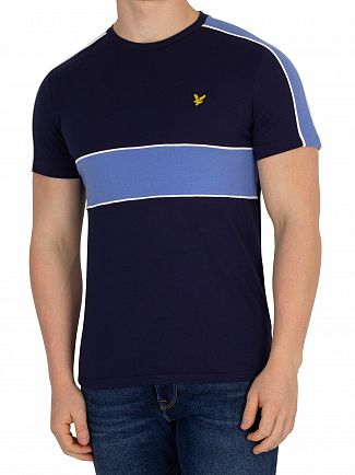 Lyle & Scott Navy Cut & Sew T-Shirt