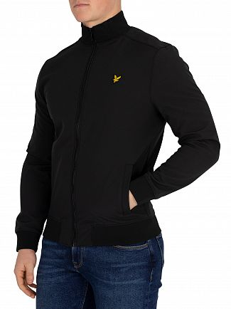 Lyle & Scott True Black Zip Through Funnel Jacket