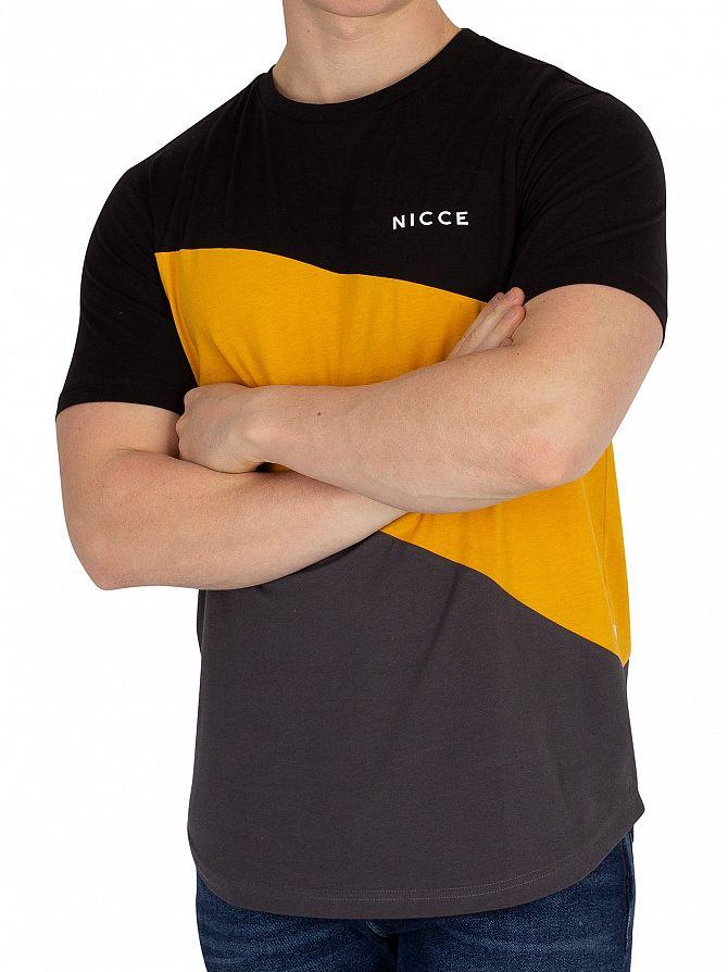 Nicce London Black/Sunrise Yellow/Coal Canyon T-Shirt