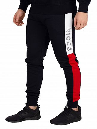 Nicce London Deep Navy/White/Red Conti Joggers