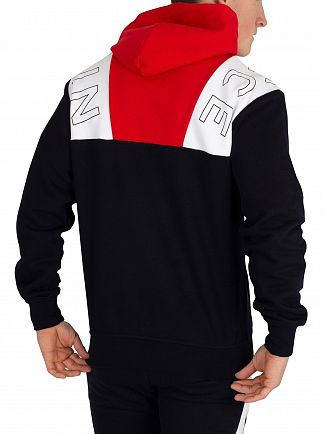 Nicce London Deep Navy/Red/White Conti Pullover Hoodie