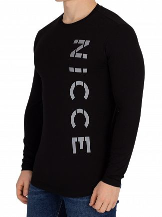 Nicce London Black Rauma Longsleeved T-Shirt