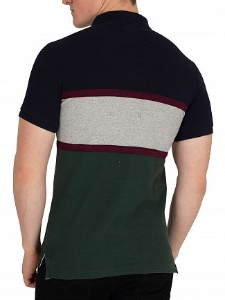 Superdry Highland Navy Classic Applique Polo Shirt