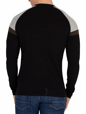 Superdry Black Longsleeved Baseball T-Shirt