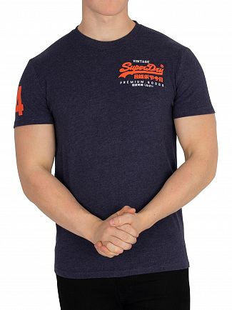 Superdry Princedom Blue Marl Premium Goods Duo Essential T-Shirt
