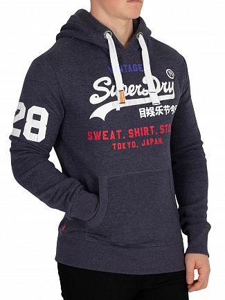 Superdry Aurora Navy Sweat Shirt Store Tri Pullover Hoodie