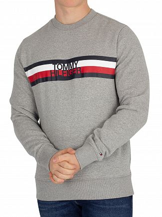 Tommy Hilfiger Cloud Heather Logo Sweatshirt