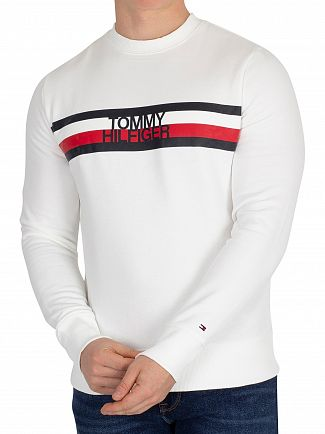 Tommy Hilfiger Bright White Logo Sweatshirt