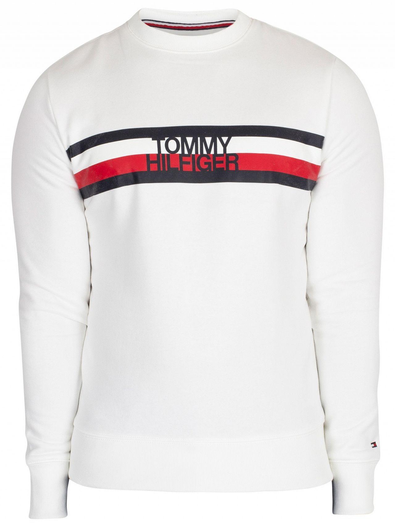 45ec115d Tommy Hilfiger Bright White Logo Sweatshirt | Standout
