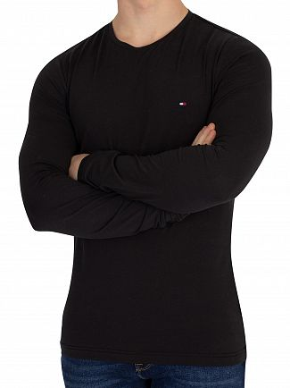 Tommy Hilfiger Jet Black Longsleeved Slim Fit T-Shirt